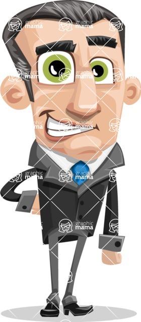 Funny Businessman Cartoon Vector Character AKA Frank - Normal