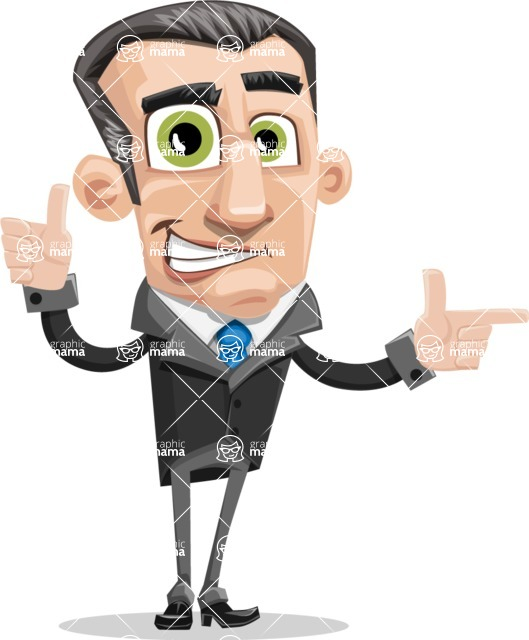Funny Businessman Cartoon Vector Character AKA Frank - Point2