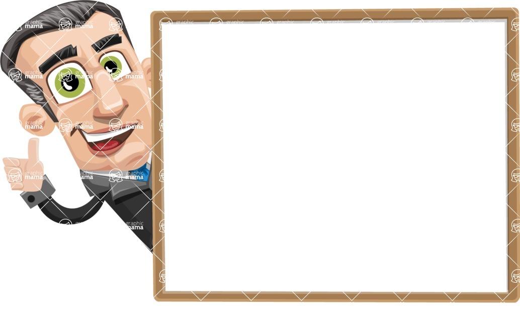 Funny Businessman Cartoon Vector Character AKA Frank - Presentation 5
