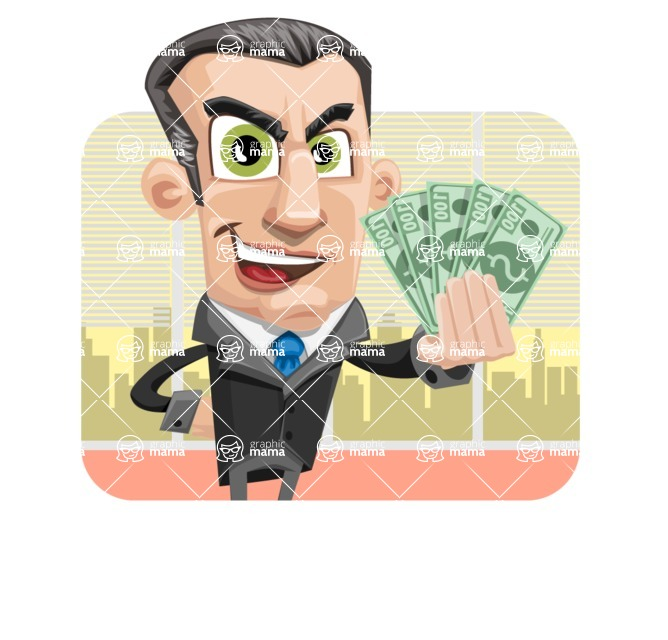 Funny Businessman Cartoon Vector Character AKA Frank - shape2
