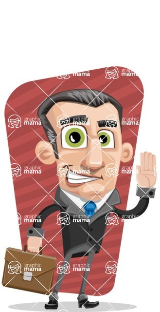 Funny Businessman Cartoon Vector Character AKA Frank - shape5