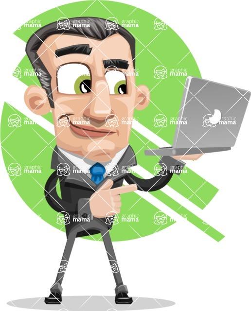 Funny Businessman Cartoon Vector Character AKA Frank - shape6