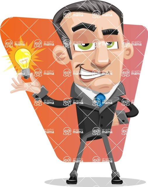 Funny Businessman Cartoon Vector Character AKA Frank - shape7