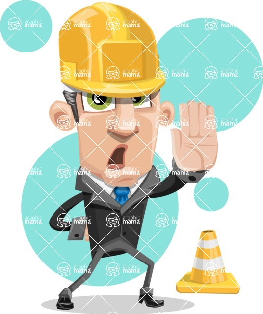 Funny Businessman Cartoon Vector Character AKA Frank - shape8
