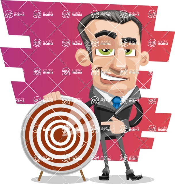 Funny Businessman Cartoon Vector Character AKA Frank - shape9