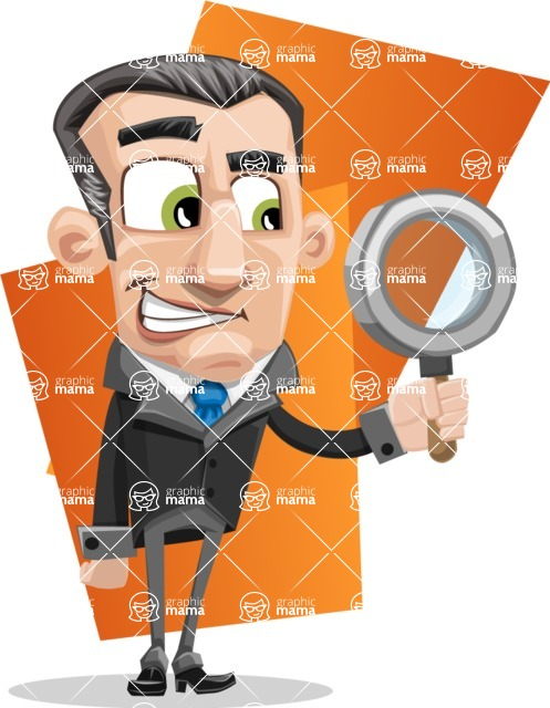 Funny Businessman Cartoon Vector Character AKA Frank - shape11