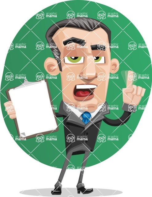 Funny Businessman Cartoon Vector Character AKA Frank - shape12