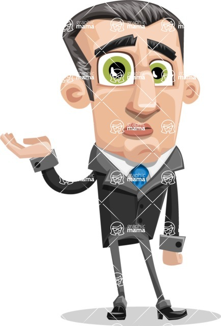 Funny Businessman Cartoon Vector Character AKA Frank - Sorry