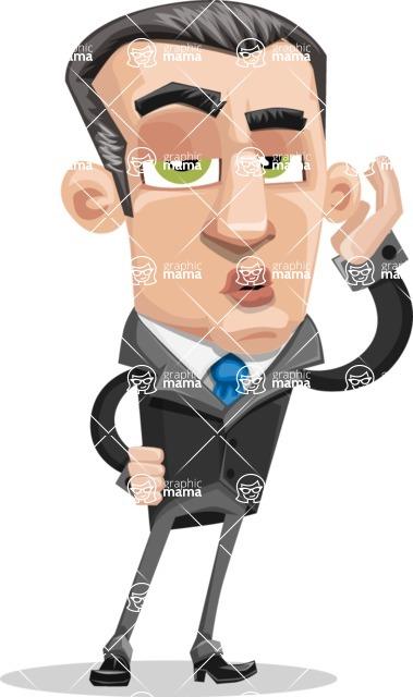 Funny Businessman Cartoon Vector Character AKA Frank - Duckface