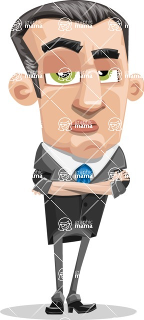 Funny Businessman Cartoon Vector Character AKA Frank - Patient