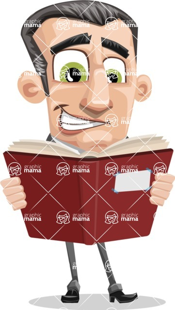 Funny Businessman Cartoon Vector Character AKA Frank - Book 1