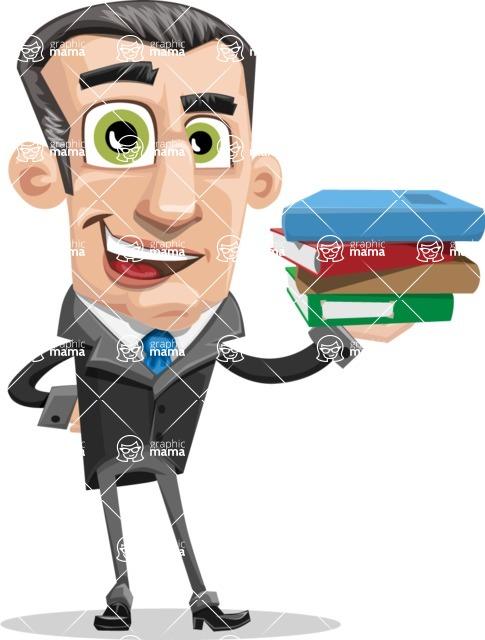 Funny Businessman Cartoon Vector Character AKA Frank - Book 2