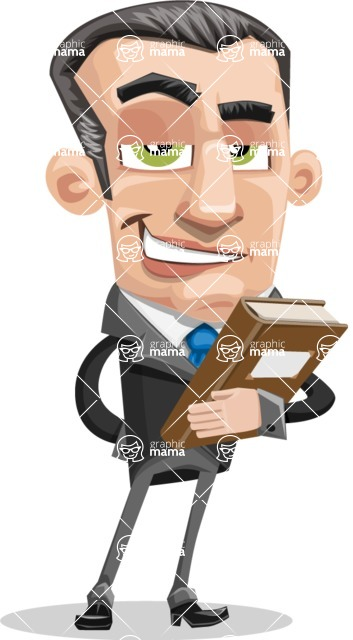 Funny Businessman Cartoon Vector Character AKA Frank - Book 3