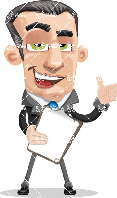 Funny Businessman Cartoon Vector Character AKA Frank - Notepad 4