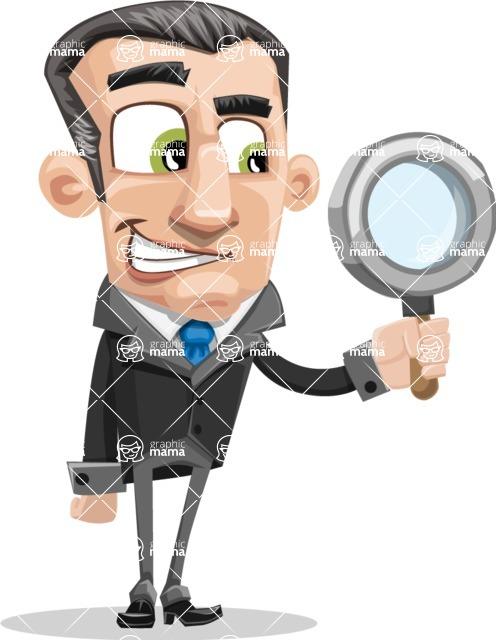 Funny Businessman Cartoon Vector Character AKA Frank - Office Fever