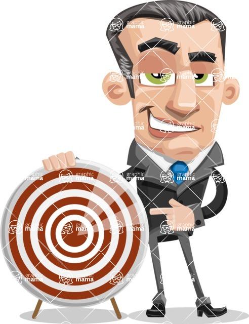 Funny Businessman Cartoon Vector Character AKA Frank - Target