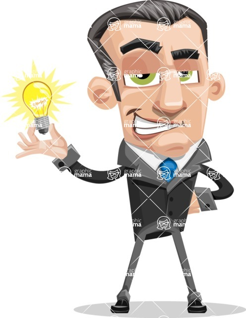 Funny Businessman Cartoon Vector Character AKA Frank - Idea 1
