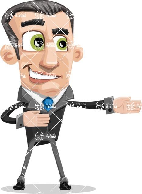 Funny Businessman Cartoon Vector Character AKA Frank - Show2