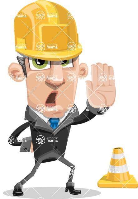 Funny Businessman Cartoon Vector Character AKA Frank - Under Construction 1