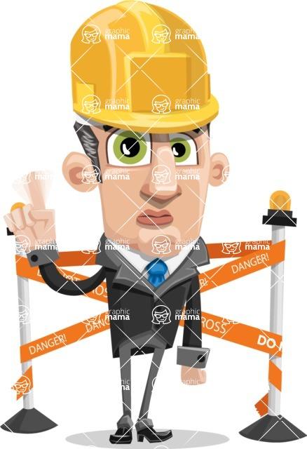 Funny Businessman Cartoon Vector Character AKA Frank - Under Construction 2