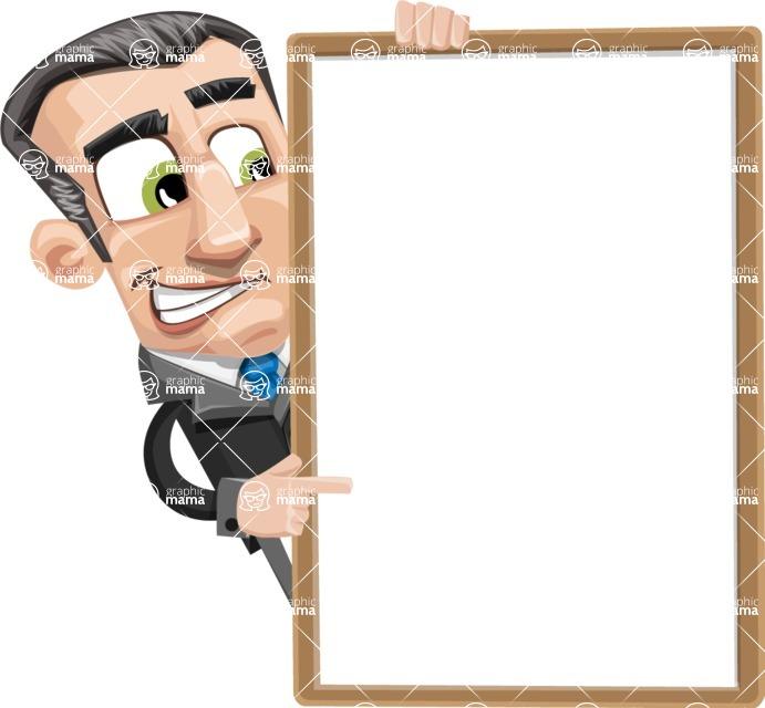 Funny Businessman Cartoon Vector Character AKA Frank - Presentation 4
