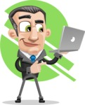 Funny Businessman Cartoon Vector Character AKA Frank - shape6