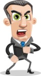 Funny Businessman Cartoon Vector Character AKA Frank - Angry