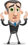 Funny Businessman Cartoon Vector Character AKA Frank - Confused