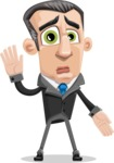 Funny Businessman Cartoon Vector Character AKA Frank - Oops