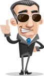 Funny Businessman Cartoon Vector Character AKA Frank - Sunglasses