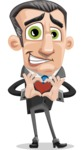Funny Businessman Cartoon Vector Character AKA Frank - Show Love