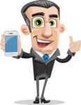 Funny Businessman Cartoon Vector Character AKA Frank - iPhone