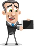 Funny Businessman Cartoon Vector Character AKA Frank - iPad 2