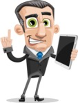 Funny Businessman Cartoon Vector Character AKA Frank - iPad3