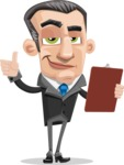 Funny Businessman Cartoon Vector Character AKA Frank - Notepad 2