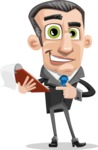 Funny Businessman Cartoon Vector Character AKA Frank - Notepad 3