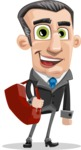 Funny Businessman Cartoon Vector Character AKA Frank - Travel 2