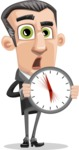 Funny Businessman Cartoon Vector Character AKA Frank - Time is Yours