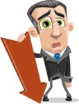 Funny Businessman Cartoon Vector Character AKA Frank - Pointer 3
