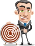 Funny Businessman Cartoon Vector Character AKA Frank - Target