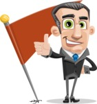 Funny Businessman Cartoon Vector Character AKA Frank - Checkpoint