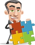 Funny Businessman Cartoon Vector Character AKA Frank - Puzzle
