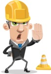 Funny Businessman Cartoon Vector Character AKA Frank - Under Construction 1