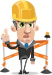 Funny Businessman Cartoon Vector Character AKA Frank - Under Construction 2