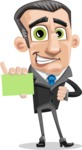 Funny Businessman Cartoon Vector Character AKA Frank - Sign 1
