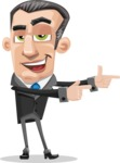 Funny Businessman Cartoon Vector Character AKA Frank - Point