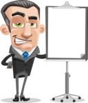 Funny Businessman Cartoon Vector Character AKA Frank - Presentation 1