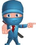 Businessman dressed as Ninja Cartoon Vector Character AKA Hideki - Direct Attention 2