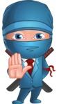 Businessman dressed as Ninja Cartoon Vector Character AKA Hideki - Stop 2