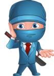 Businessman dressed as Ninja Cartoon Vector Character AKA Hideki - Lost